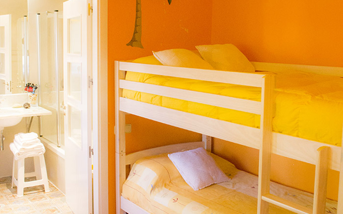 tenadas habitación 2 camas