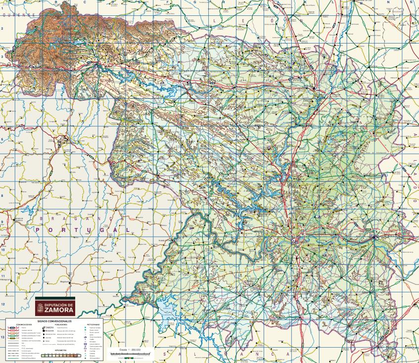Mapa De Zamora Provincia.Mapa Provincial De Zamora Entrambasorillas