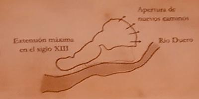 Mapa Judería Crecimiento Zamora siglo XIII