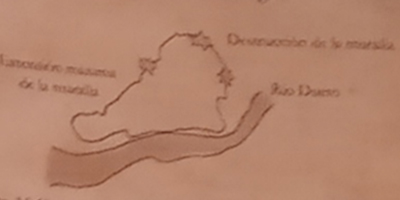 Mapa zamora cinturones de la muralla
